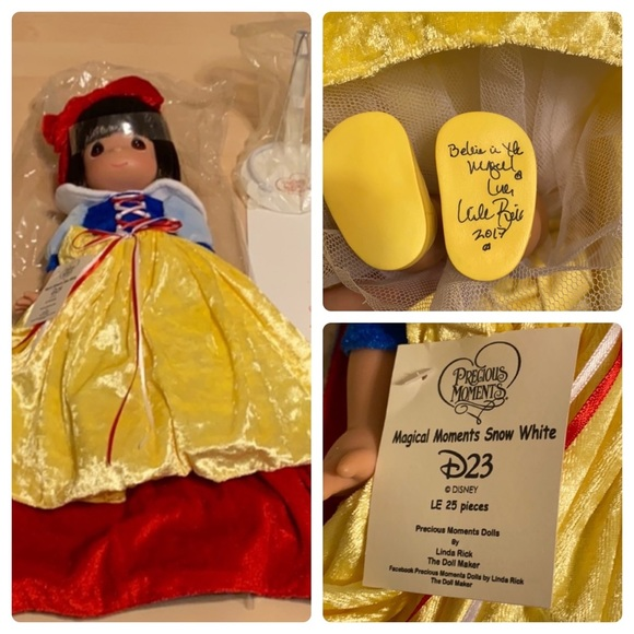 Disney Other - SIGNED LE 25 SNOW WHITE PRECIOUS MOMENTS DISNEY